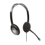 V7 HA201 Binaural Head-band Black headset