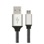 Astrotek 1m Micro USB Data Sync Charger Cable Cord Silver White Color for Samsung HTC Motorola Nokia