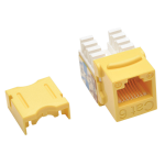 Tripp Lite Cat6 / Cat5e 110 Style Punch Down Keystone Jack - Yellow