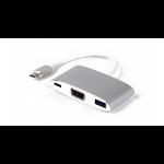 LMP 15093 Schnittstellenhub USB 3.2 Gen 1 (3.1 Gen 1) Type-C 5000 Mbit/s Silber, Weiß