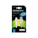 Duracell USB5012W mobile phone cable USB A Lightning White 1 m