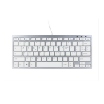 R-Go Tools Compact Keyboard, AZERTY (FR), white, wired