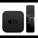 Apple TV 4K 64 GB Wi-Fi Eingebauter Ethernet-Anschluss Schwarz 4K Ultra HD
