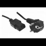 Hypertec A   ProConnectLite  EU CEE 7/7 to C13-5m power cable Black CEE7/7 IEC C13