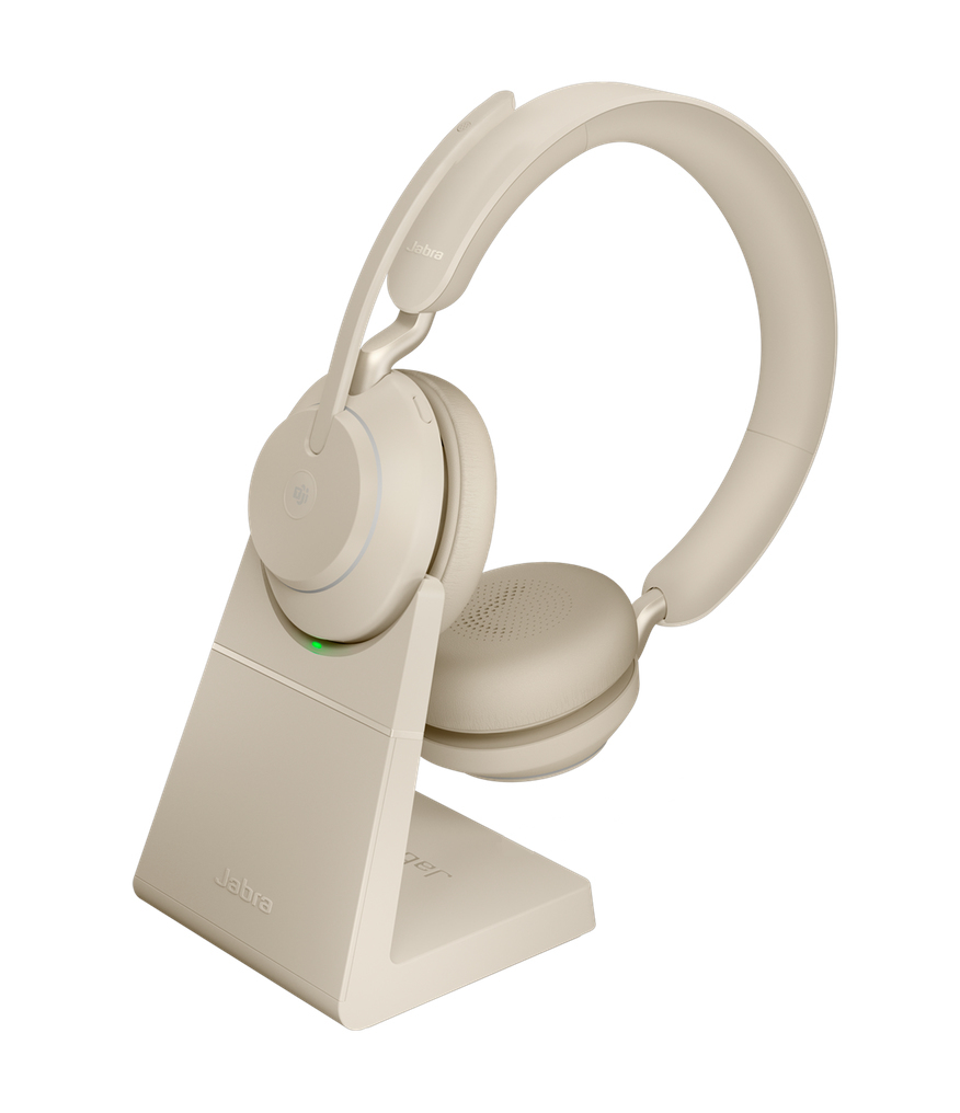 Jabra Evolve2 65, MS Stereo Headset Head-band Beige