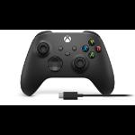 Microsoft Xbox Wireless Controller + USB-C Cable Gamepad PC, Xbox One, Xbox One S, Xbox One X, Xbox Series S, Xbox Series X Analogue / Digital Black
