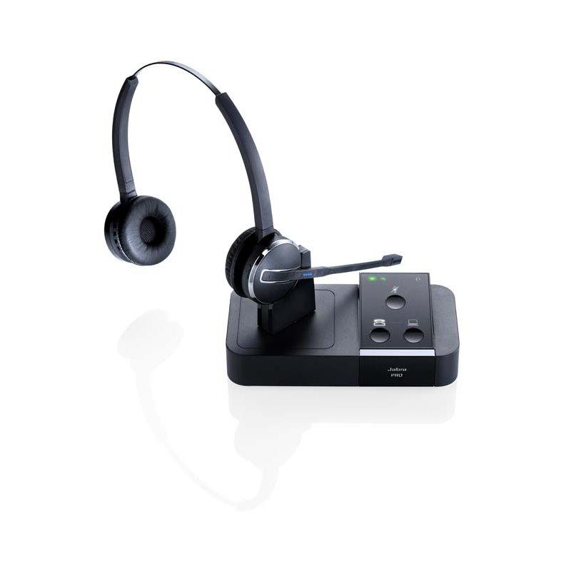 Jabra PRO 9450 Duo EMEA Binaural Head-band Black headset