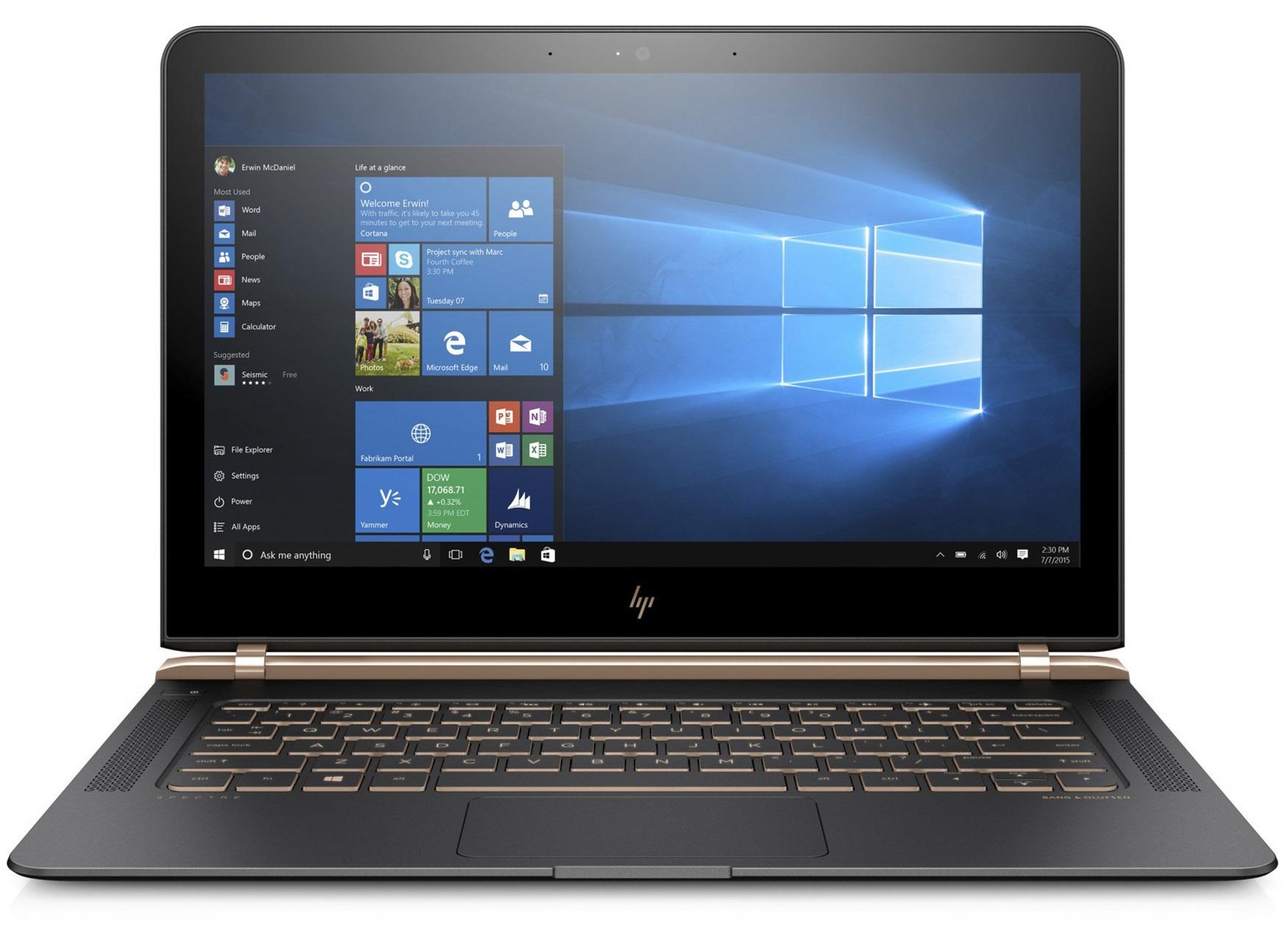 "HP Spectre 13-v001na 2.5GHz i7-6500U 13.3"" 1920 x 1080pixels Black,Gold"