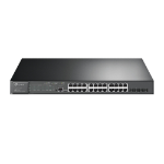 TP-LINK TL-SG3428XMP network switch Managed L2+ Gigabit Ethernet (10/100/1000) Power over Ethernet (PoE) Black