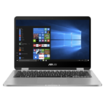 "ASUS VivoBook Flip 14 TP401MA-BZ310R-3Y notebook LPDDR4-SDRAM Hybrid (2-in-1) 35.6 cm (14"") 1366 x 768 pixels Touchscreen Intel® Pentium® Silver 4 GB 128 GB eMMC Wi-Fi 5 (802.11ac) Windows 10 Pro Grey"