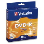 Verbatim DVD-R 4.7GB 16X Branded 10pk Spindle Box 4.7GB DVD-R 10pc(s)