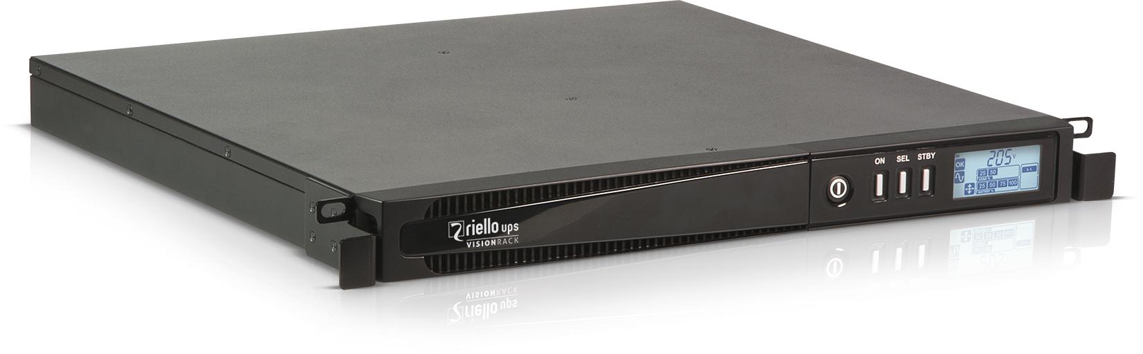 Riello Vision Rack sistema de alimentación ininterrumpida (UPS) 110 VA 800 W 4 salidas AC