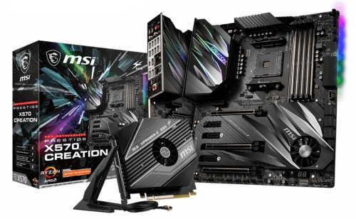 MSI Prestige X570 Creation motherboard Socket AM4 Extended ATX AMD X570