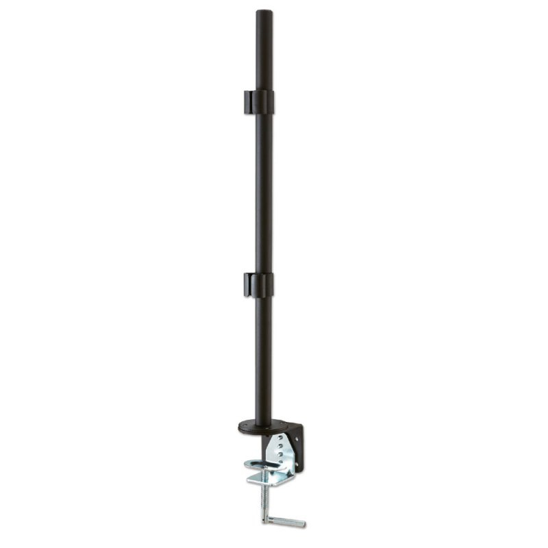 Lindy 700mm Pole with Desk Clamp. Colour: Black