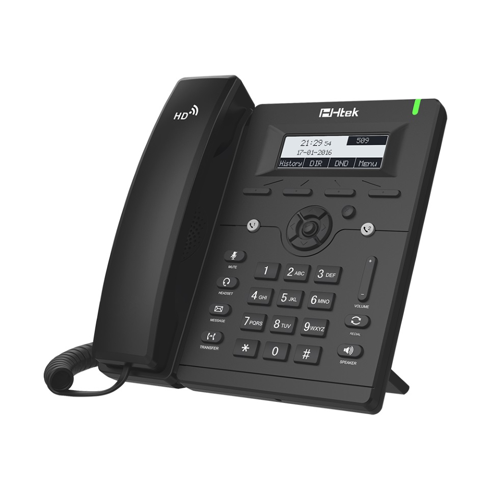 Htek UC902 Entry Business IP Phone, 2 Line Display, 10/100m Ethernet, 2 Year Warranty (Yealink T19 equivalent)