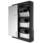 Ergotron Zip12 Charging Wall Cabinet - Cabinet unit for 12 netbooks/tablets - black, silver - screen size: up