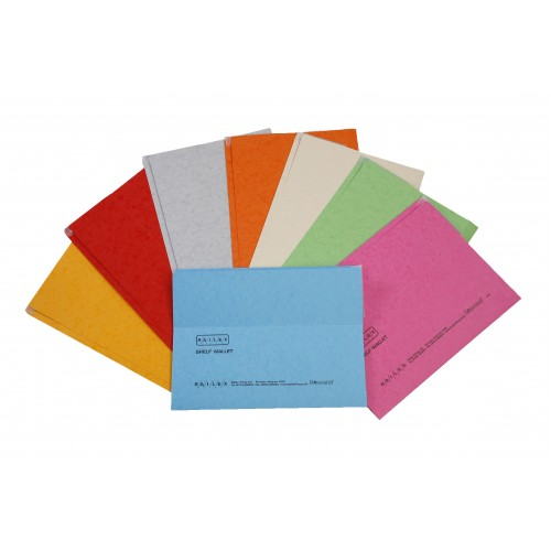 Railex Shelf Wallet Foolscap Assorted PK25