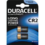 Duracell Battery Ultra CR2 2PK Lithium 3V non-rechargeable battery
