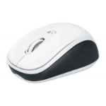 Manhattan Dual-Mode Mouse, Bluetooth 4.0 and 2.4 GHz Wireless, 800/1200/1600 dpi, Three Buttons With Scroll Wheel, Black & White, Box