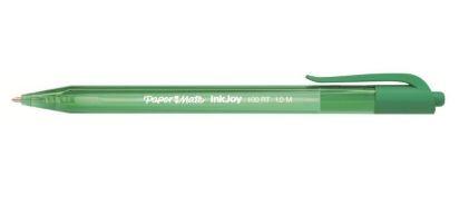 Papermate InkJoy 100 RT Clip-on retractable ballpoint pen Medium Green