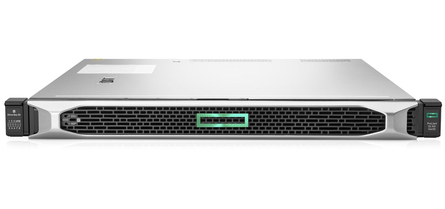Hewlett Packard Enterprise ProLiant DL160 Gen10 (PERFDL160-001) server Intel Xeon 2.1 GHz 16 GB DDR4-SDRAM 9.6 TB Rack (1U) 500 W