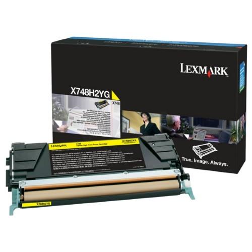 Lexmark X748H2YG Toner yellow, 10K pages