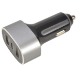 2-Power Car Charger 12V/24V 2x Type-A 1x Type-C mobile device charger