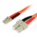 StarTech.com 2m Multimode 62.5/125 Duplex Fiber Patch Cable LC - SC