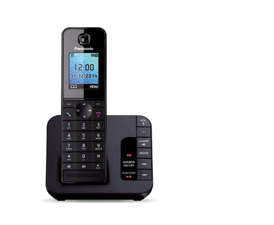 Cordless Dect Phone KX-TGH220EB with TAM and Call Blocking - Single/ Black