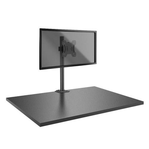 "Lindy 40656 flat panel desk mount 71.1 cm (28"") Screws Black"