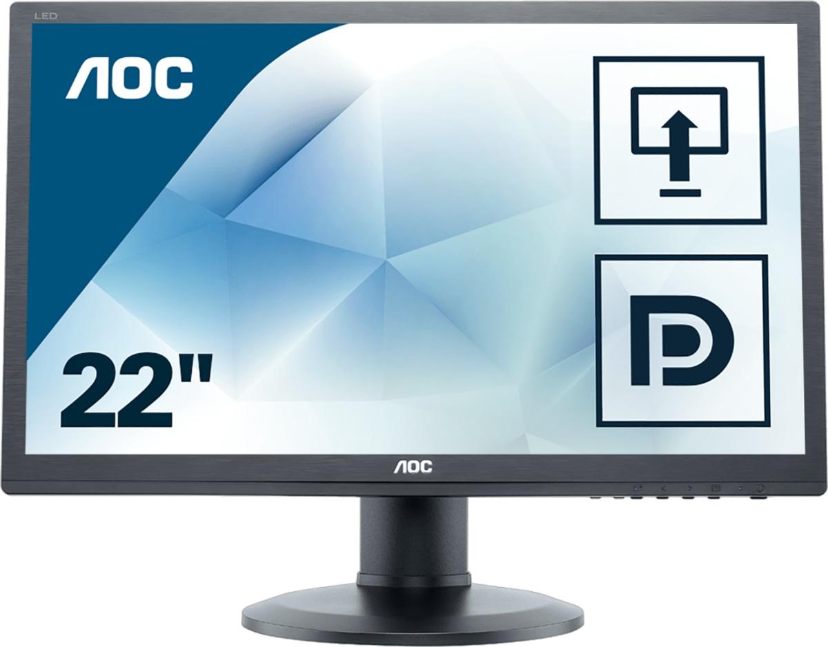 Monitor LCD 22in E2260pq/bk Wide 1680x1050 250cd/m2 1000:1 2ms D-sub DVId-d Dp Black