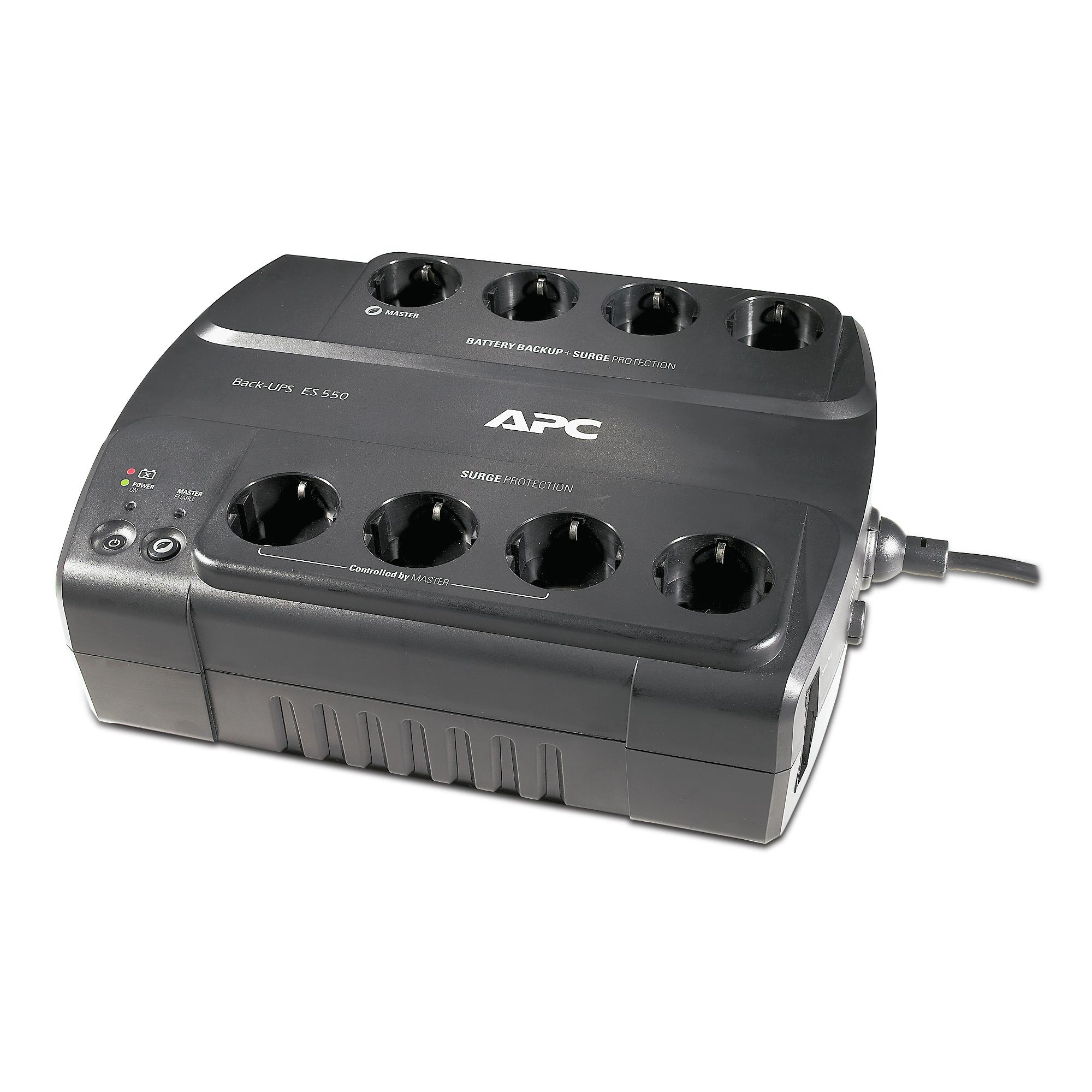 APC Back-UPS sistema de alimentación ininterrumpida (UPS) En espera (Fuera de línea) o Standby (Offline) 550 VA 330 W