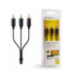 BELKIN 3x RCA Male/ Male Component Cable Gold Plated in Black 1m