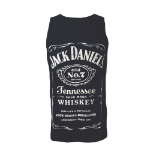 JACK DANIEL'S Men's Old No.7 Brand Logo Tank Top, Small, Black/White (TS141214JDS-S)