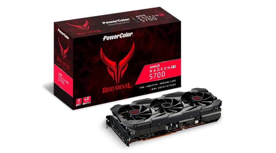 PowerColor AXRX 5700 8GBD6-3DHE/OC graphics card Radeon RX 5700 8 GB GDDR6