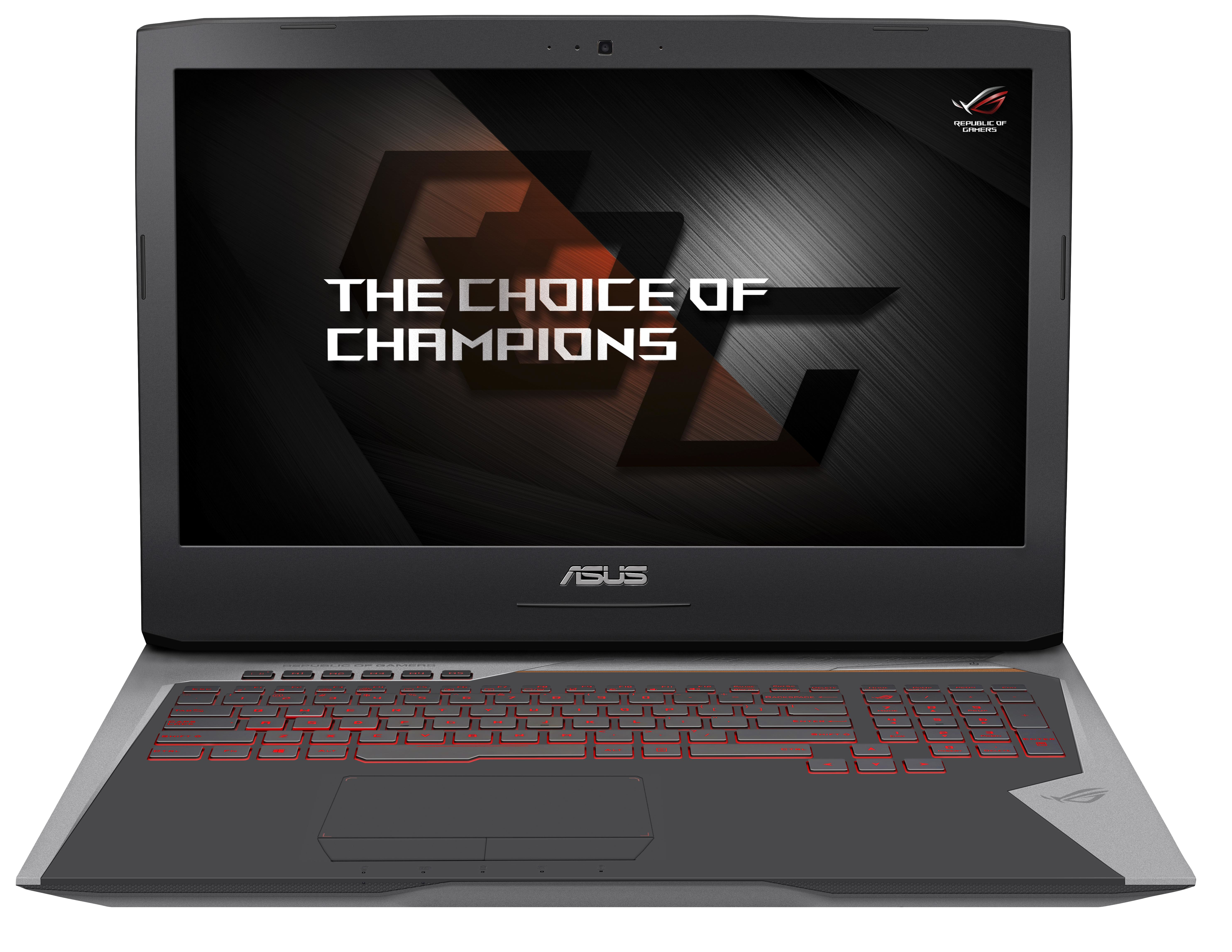 "ASUS ROG G752VY-T7049T 2.7GHz i7-6820HQ 17.3"" 1920 x 1080pixels Black,Gold,Grey notebook"