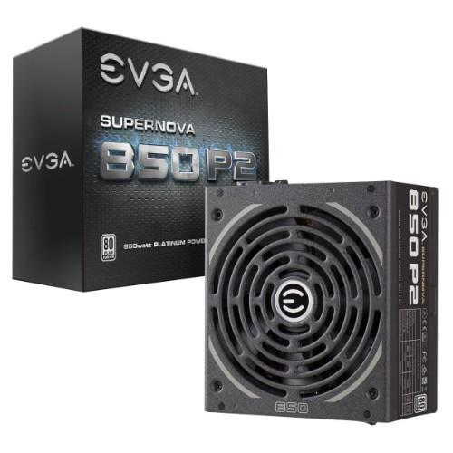EVGA SuperNOVA 850 P2 850W Black power supply unit
