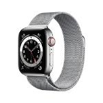 Apple Watch Series 6 OLED 40 mm Plata 4G GPS (satélite)