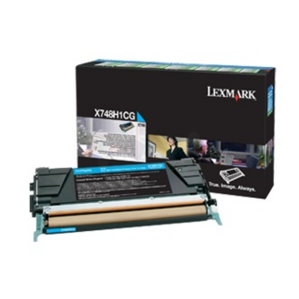 Lexmark X748H3CG Toner cyan, 10K pages
