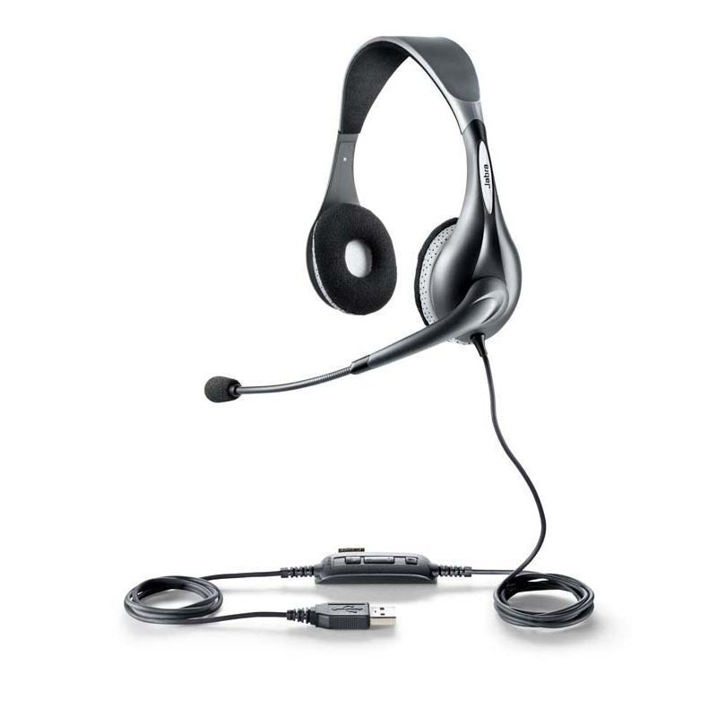 Jabra UC VOICE 150 MS duo Binaural Head-band Grey headset