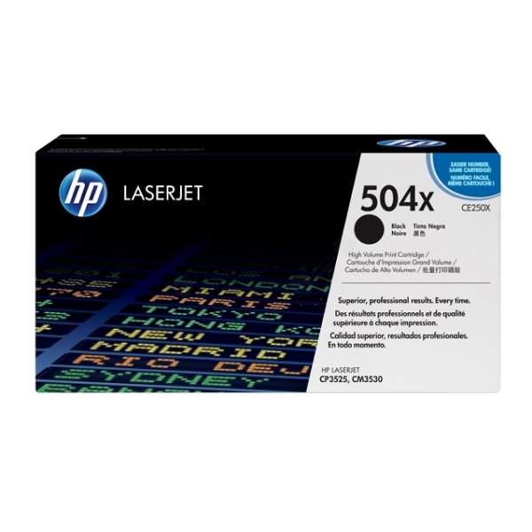 HP CE250X (504X) Toner black, 10.5K pages