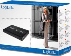 "LogiLink UA0082 storage drive enclosure 3.5"" Black"