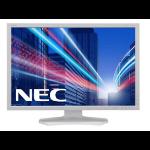"NEC MultiSync PA242W 24.1"" AH-IPS White computer monitor"