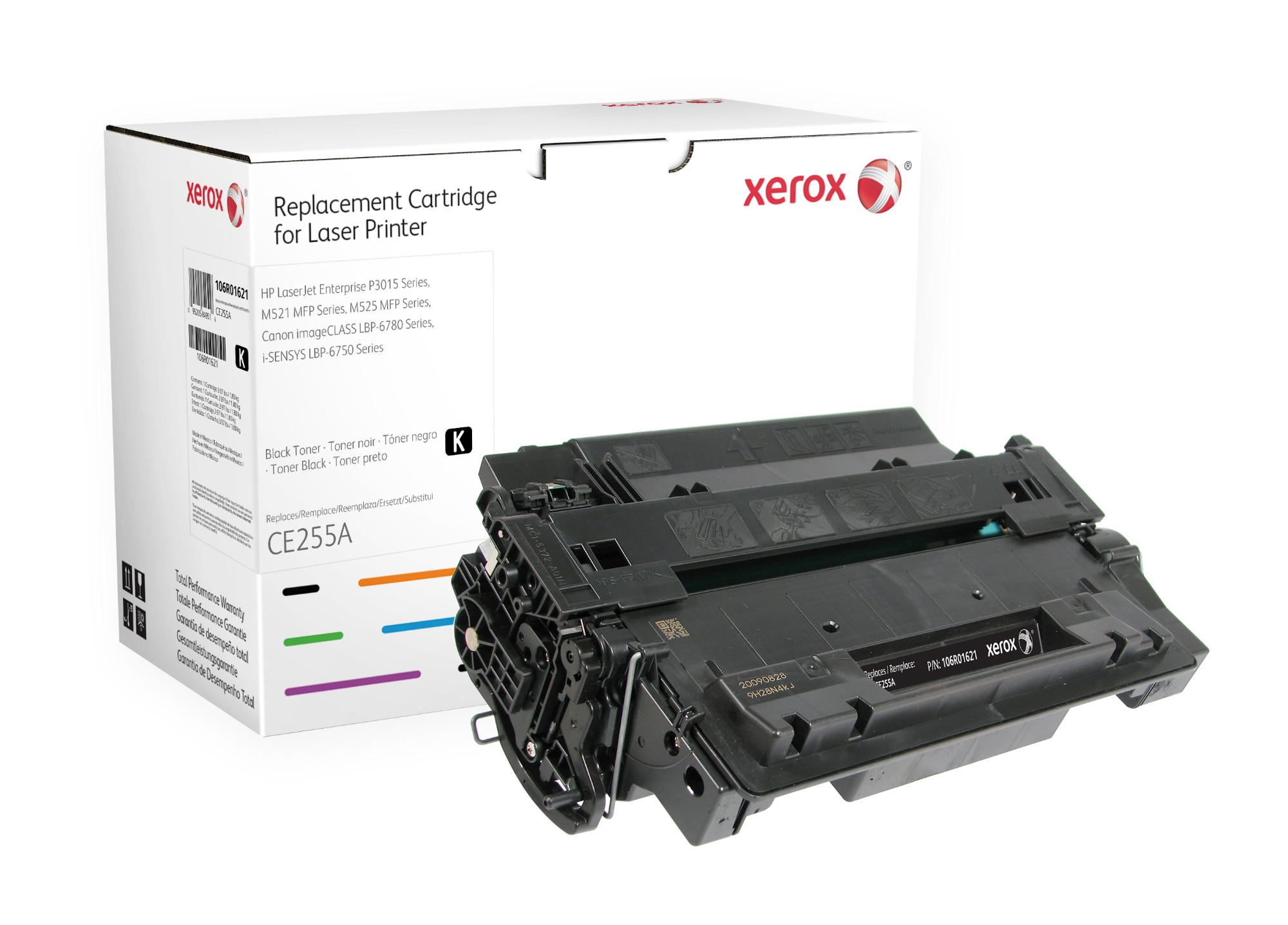 Xerox Cartucho de tóner negro. Equivalente a HP CE255A. Compatible con HP LaserJet M525 MFP, LaserJet P3010, LaserJet P3015, LaserJet P3016