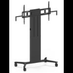 "Vision VFM-F40/W/6X4 flat panel floorstand 190.5 cm (75"") Portable flat panel floor stand Black"