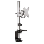 Brateck Elegant Single LCD Monitor Table Stand w/Arm & Desk Clamp VESA 75/100mm Up to 27""