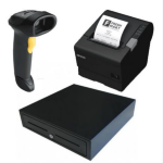 EPSON TM-T88VI-241 Thermal Receipt Printer Built-in Ethernet, USB, Serial, With PSU, bundled with EC-410 C
