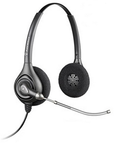 Plantronics HW261H Binaural Head-band Black headset 87129-02