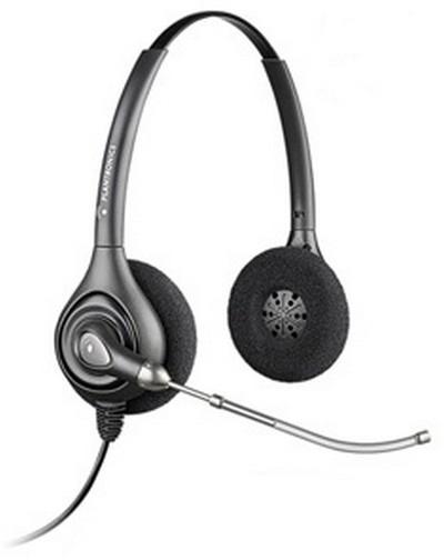 Plantronics HW261H Binaural Head-band Black headset