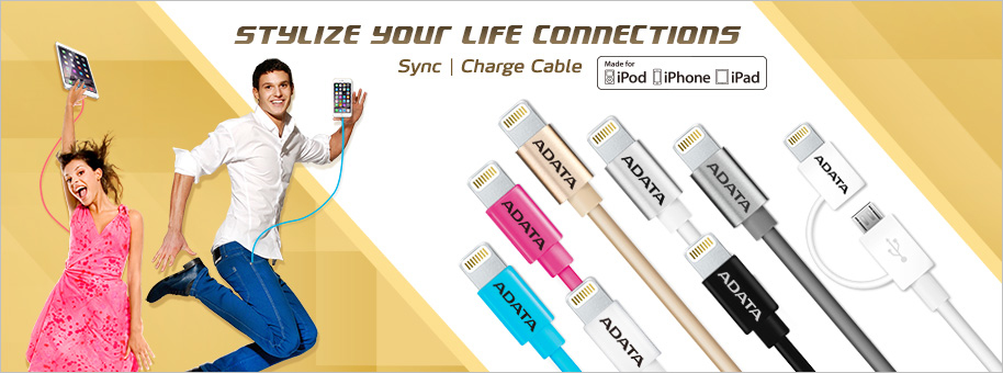 Lightning&sync Cable Black For Ipod, iPhone, iPad